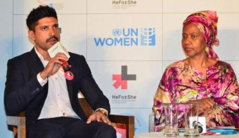 Farhan Akhtar at a UN Women's Goodwill Event