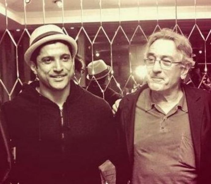 Farhan Akhtar with his Inspiration Robert De Niro