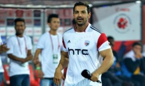 John Abraham Cheering His Team At ISL