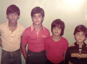 Salman Khan In His Childhood With His Siblings