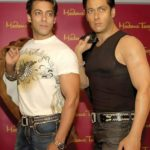 Salman Khan With His Wax Statue