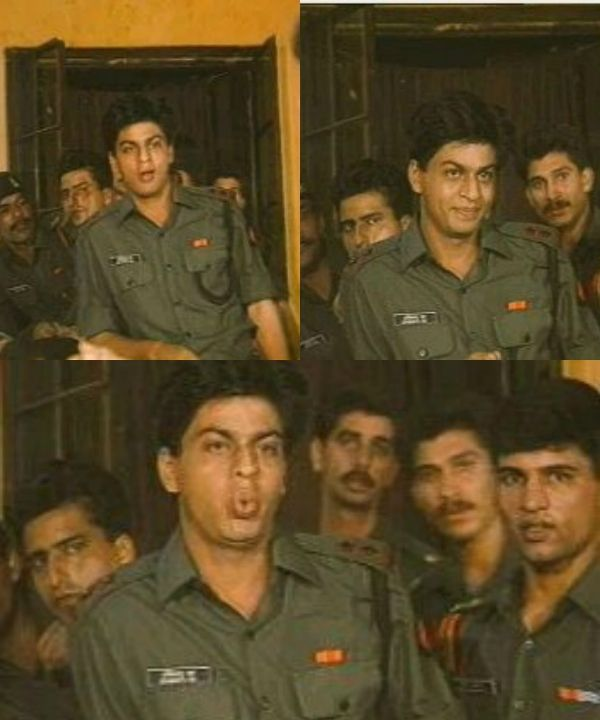 Shah Rukh Khan During His Fauji Days