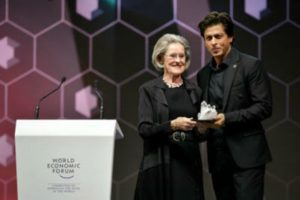 Shah Rukh Khan Receiving Human Rights Awareness Award