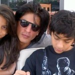 Shahrukh Khan with his daughter & son (Suhana & Aryan)