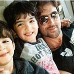 Hrithik Roshan with his children - Hridhaan & Hrehaan
