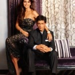 Shahrukh Khan with her wife Gauri Khan