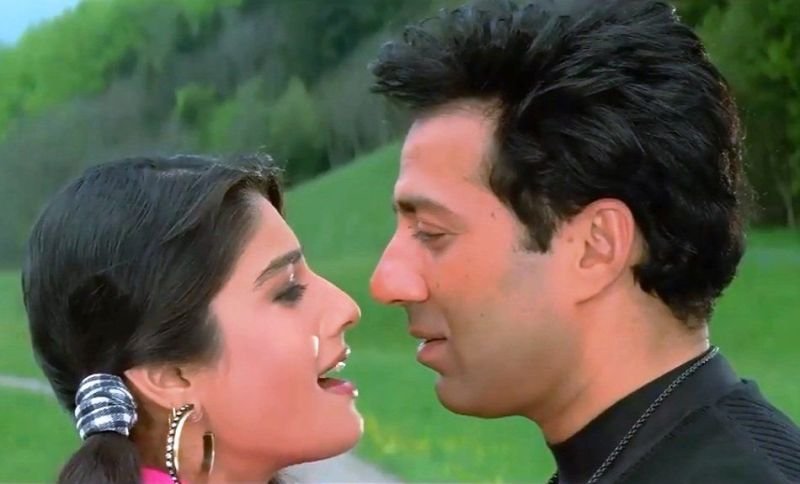 Sunny Deol In Ziddi With Raveena Tandon