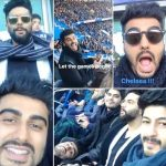 Arjun Kapoor Watching Chelsea Match