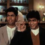 Karan Johar and Shah Rukh Khan in DDLJ