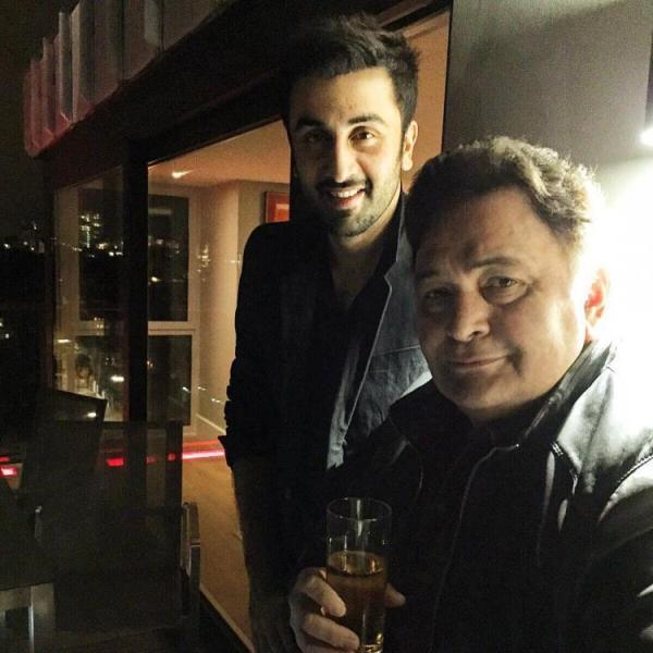 Rishi Kapoor With a Glass of Whiskey