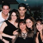 Zayed Khan with his sisters, mother, and brother-in-law