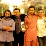 Atif Aslam with his brothers