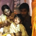 Dhanush with his wife and children