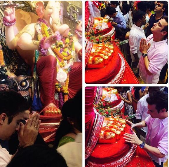 Jimmy Sheirgill with the idol of Lord Ganesha