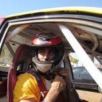 Kunal Kapoor in a ralley racing car