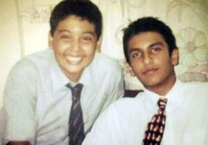 Ranveer Singh (right) during his school days