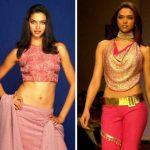 Deepika Padukone during modelling days