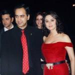 Preity Zinta with her elder brother Deepankar