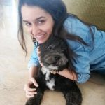 Shraddha Kapoor with her Lhasa Apso breed pet dog, Shyloh