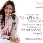 Sonam Kapoor At Elle Breast Cancer Campaign