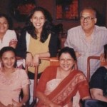 Madhuri Dixit with her parents and sisters