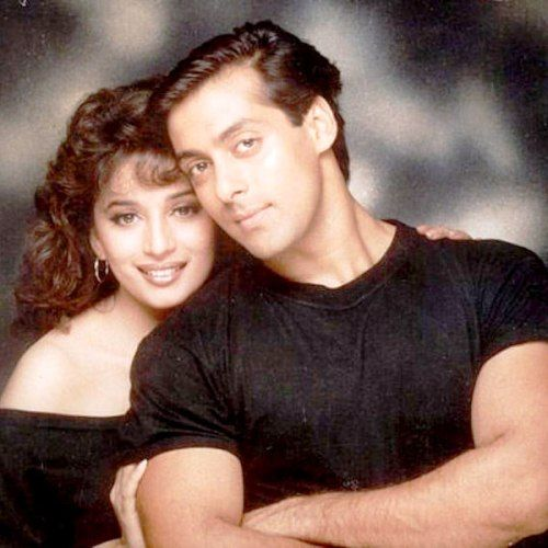 Madhuri Dixit and Salman Khan in Hum Aapke Hain Koun