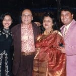 Rani Mukerji with her parents and brother