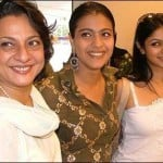 Kajol with her mother and sister