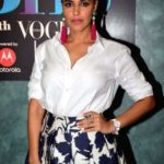 Neha Dhupia On The Sets Of BFFs With Vogue