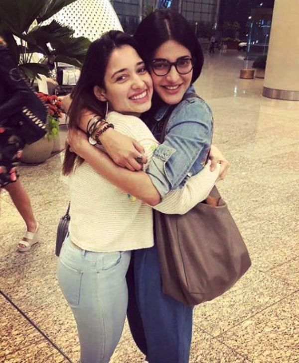 Shruti Haasan With Tamannaah Bhatia