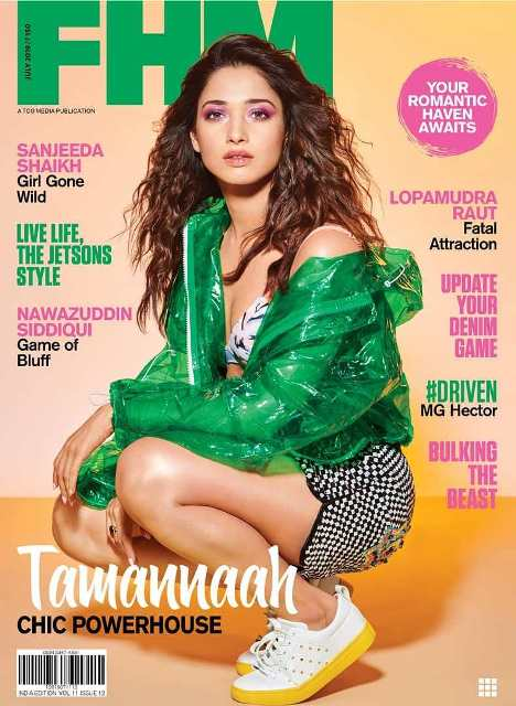 Tamannaah Bhatia on the cover of FHM Magazine