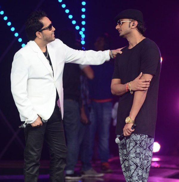 Mika Singh with Honey Singh