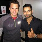 Virat Kohli with Roger Federer