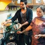 Virat Kohli with his mother