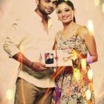 Virat Kohli with Tamannaah Bhatia posing for an ad