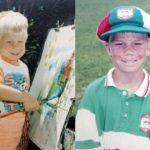 David Warner childhood photo