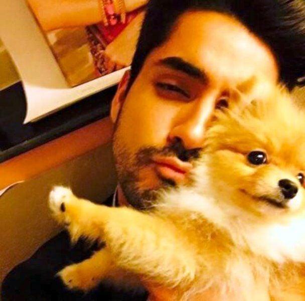 Gautam Gulati With His Pet Dog
