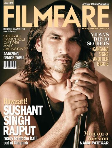 Sushant Singh Rajput on the cover of Filmfare Magazine