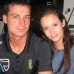 Dale Steyn with his wife Jeanne Kietzmann