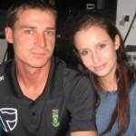Dale Steyn with his wife Jeanne Kietzmann