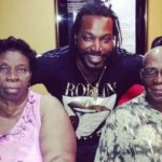 Chris Gayle with his Parents