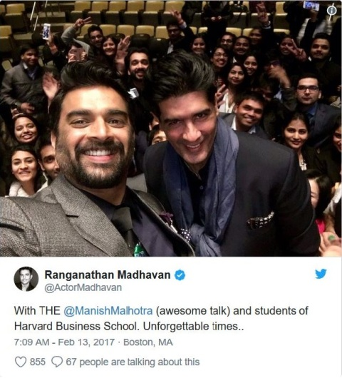R. Madhavan at Harvard University