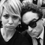 Kaley Cuoco with Johnny Galecki