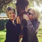Kaley Cuoco with her mother