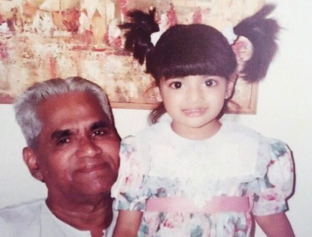 Athiya Shetty with her grandfather