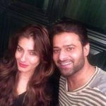 Prabhas with Raveena Tandon