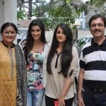 Kirti Sanon with her family