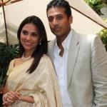 Lara Dutta with her husband Mahesh Bhupathi