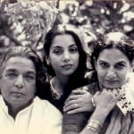 Shabana Azmi with parents Kaifi and Shaukat Azmi