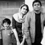 A. R. Rahman with his wife and children